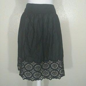 MICHAEL Michael Kors Embroidered Cutout Skirt